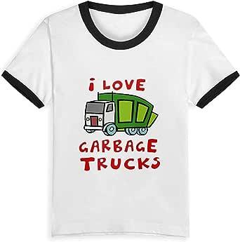 Quafoo Love Garbage Trucks Kids T Shirts