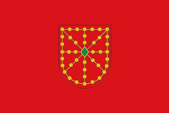 magFlags Bandera Large Utilizada por independentistas navarros | Bandera Paisaje | 1.35m² | 90x150cm: Amazon.es: Jardín