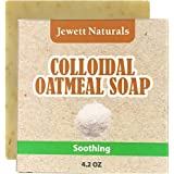 Colloidal Oatmeal Eczema And Psoriasis Soap 4.2 Ounces. Vegan & Handmade With Shea Butter, Cocoa Butter to help Combat Irrita