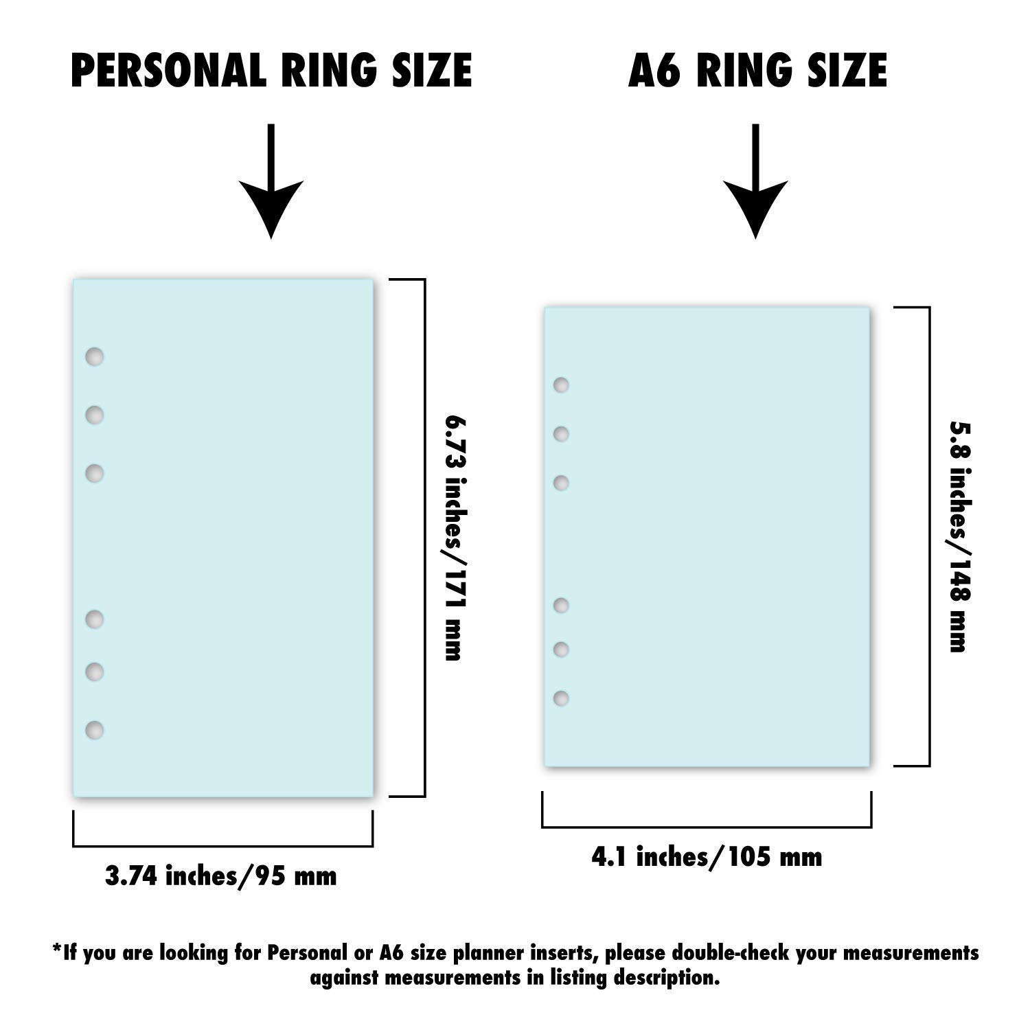 fits six-ring binders Personal size Prayer Requests Planner insert 30 Double-Sided sheets 3.74 by 6.73 inches