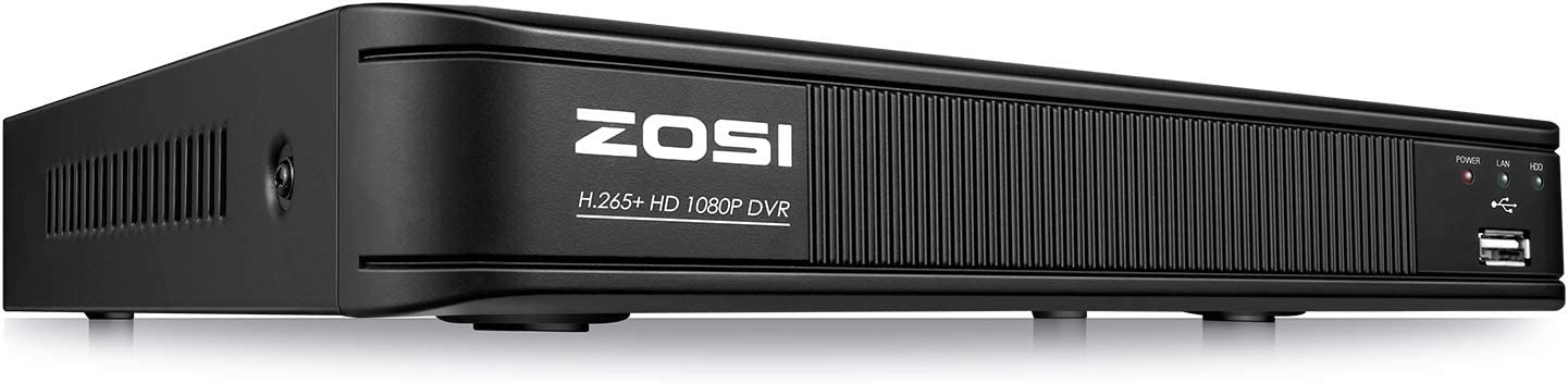 ZOSI H.265+ 1080p 4 Channel DVR for Security Camera, Remote Access, Motion Detection, Alert Push, Hybrid Capability 4-in-1(Analog/AHD/TVI/CVI) CCTV DVR Reorder (No Hard Drive)