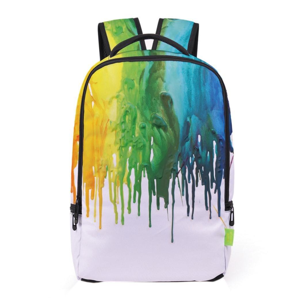 Hemlock School Backpack, Junior Teen 3D Backpacks Travel Rucksack Schoolbag (C)