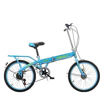 XQ F380 Azul Bicicleta Plegable Ultralight Portátil 16/20 Pulgadas Velocidad Única Bicicleta De Niños