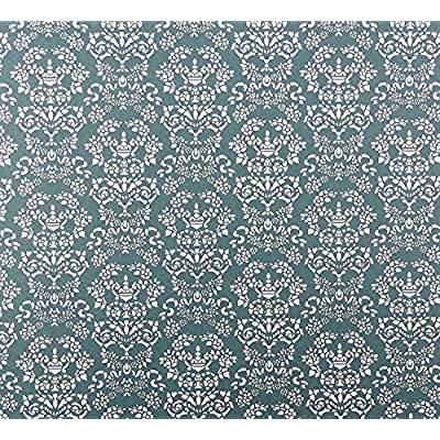 Melody Jane Dollhouse Renaissance White on Blue Miniature Print 1:12 Scale Wallpaper: Toys & Games