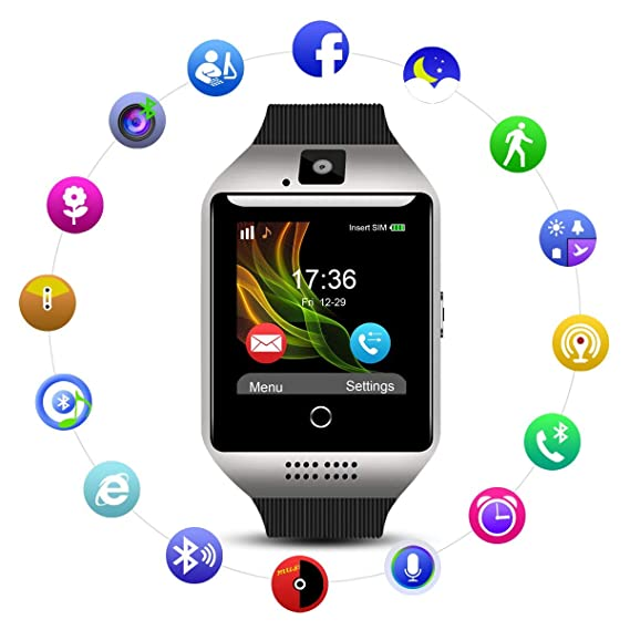 Amazon.com: Android SmartWatch for Camera/SIM Slot SD Card ...