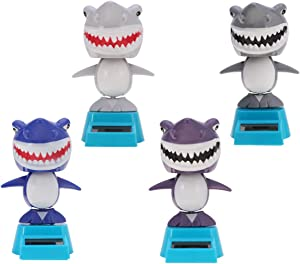 Holibanna Car Decoration Solar Shark Swing Doll Ornament Solar Powered Dashboard Toys Car Desk Bobblehead Gift for Home Party Blue