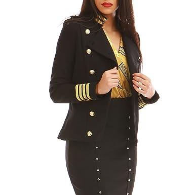4a30c13371251 La Modeuse - Veste Style Officier à Manches Longues  Amazon.fr  Vêtements  et accessoires