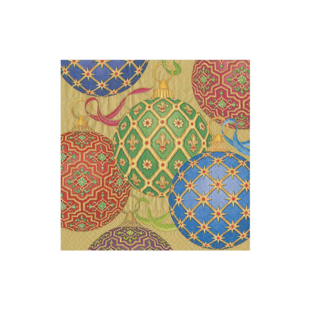 Pack of 15 12611G Gold Entertaining with Caspari Imperial Ornaments Guest Towels
