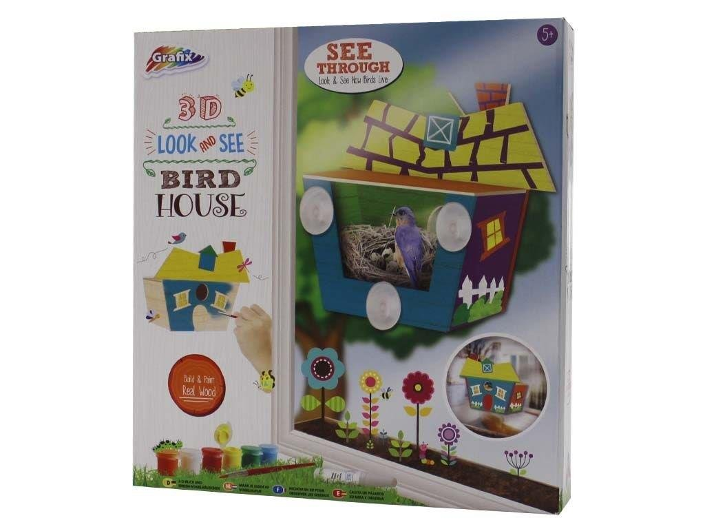 Gift Idea For Boys & Girls - 3D Look And See Birdhouse For Ages 5+ WW Global Trading