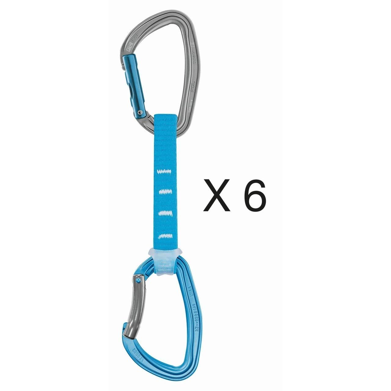 PETZL - Pack 6 Djinn Axess Quickdraw, Blue, 12 cm by PETZL