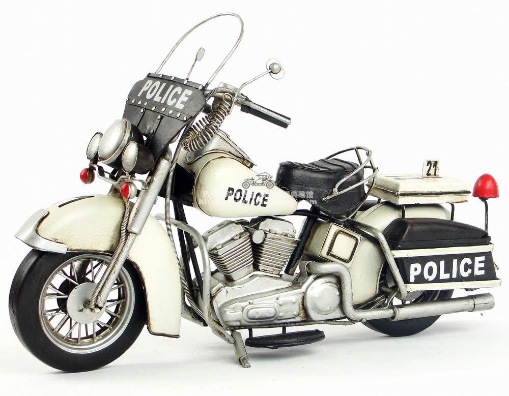 JJLESUN3 Antikes Schmiedeeisen-Motorradmodel-Geburtstagsgeschenk Der Dekorativen Künste Der Retro-Schmiedeeisen Handgemachtes Antikes