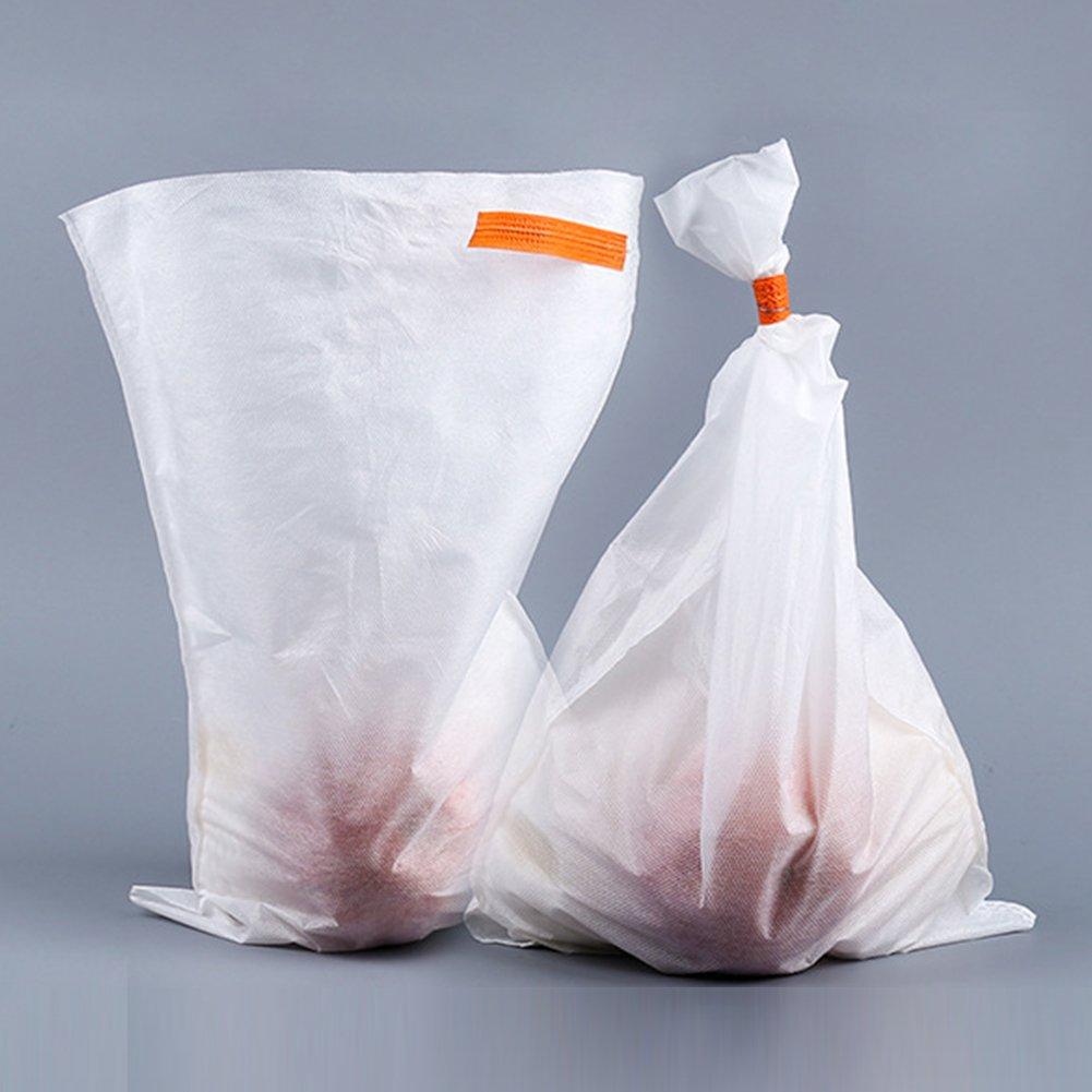 50 bolsas de productos reutilizables, bolsas de malla de jardí n lavables de alta calidad para la compra de alimentos, almacenamiento de frutas y verduras, blanco, 25 * 32cm GeKLok