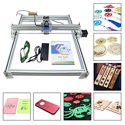 Amazon com: 500MW DIY CNC Laser Engraver Kit Wood Carving