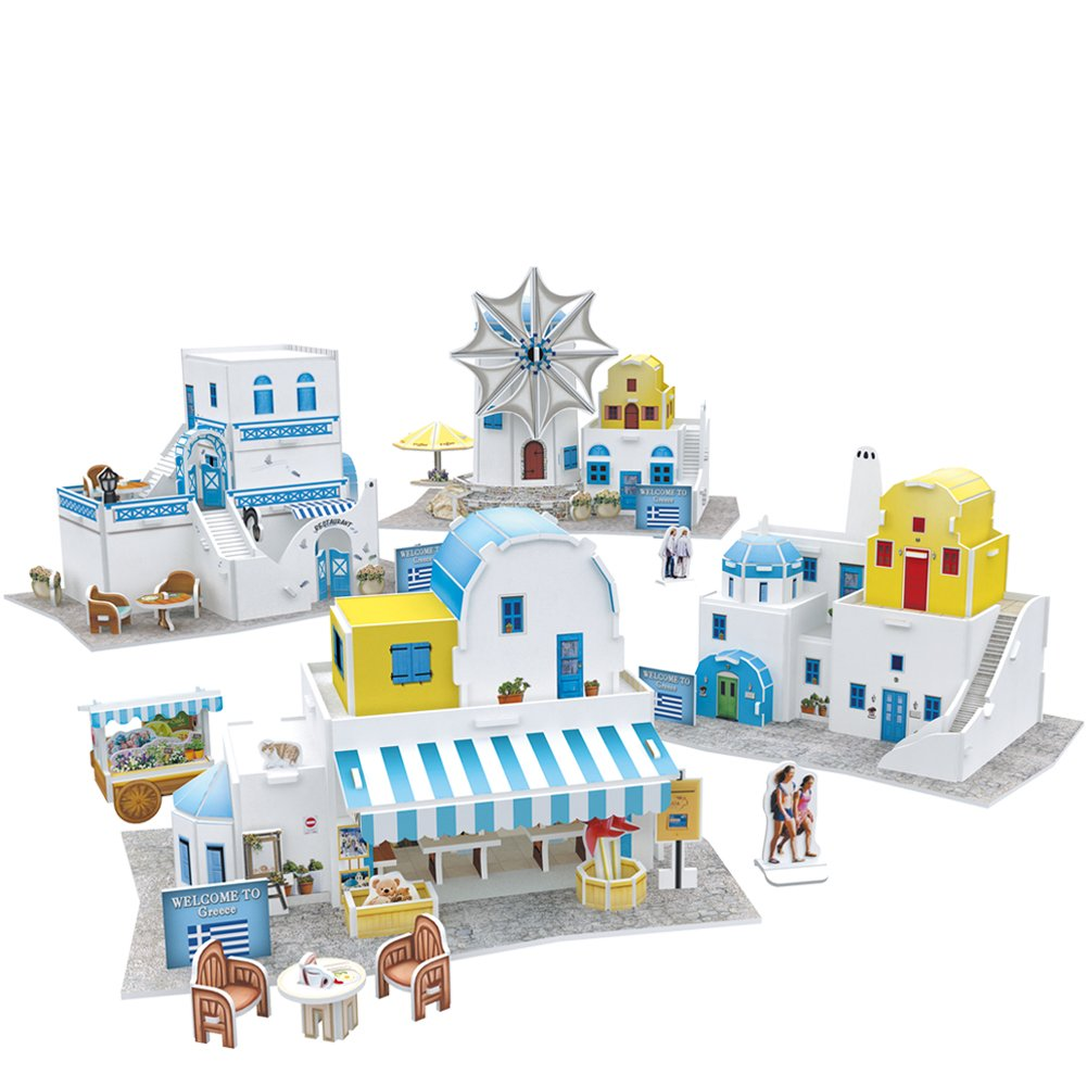 CubicFun-World Architectural House Building Model Kits 3D Puzzle, Italy, W3185h 131 Pieces