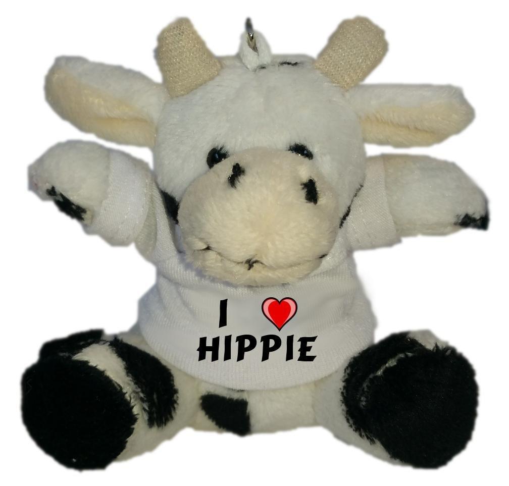 Shopzeus Vaca de Peluche (Llavero) con Amo Hippie en la ...
