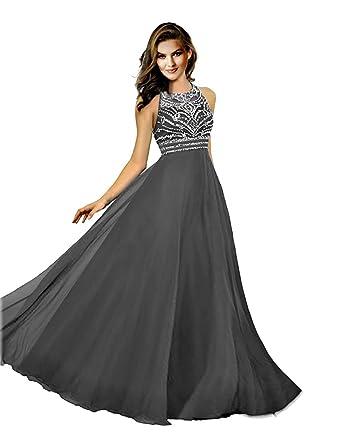 HotGirls lange prom Kleider Chiffon Perlen jeweled Abendkleider ...