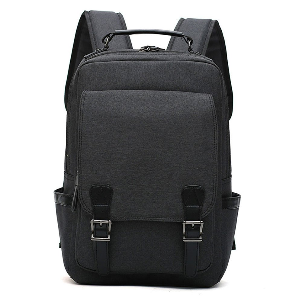 WCR Newest Laptop Backpack, Large Business Travel Computer Bag for Women & Men Fits up to 15.6 inch Laptop, Water Resistant Durable Canvas School Backpack (Black)