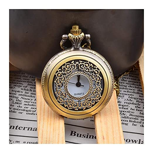 ACZZ Reloj de bolsillo para hombre , Vintage Flip, calado ...
