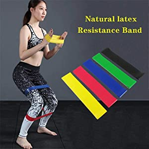 nobranded Natural Latex Tension Band Colors Yoga Resistance Rubber Bands Indoor Outdoor Fitness Equipment Workout Elastic Bands