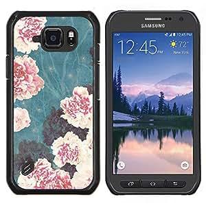 Stuss Case / Funda Carcasa protectora - Vignette Begonia Flores rosas - Samsung Galaxy S6 Active G890A