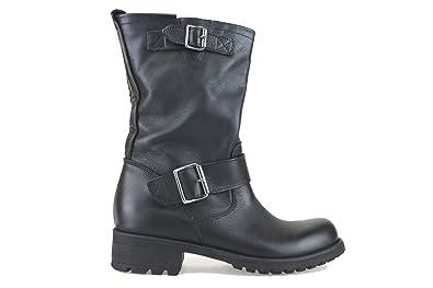 TREND Damenschuhe Ankle US Stiefel schwarz Leder AJ411 (8 US Ankle 38 ... 291df9