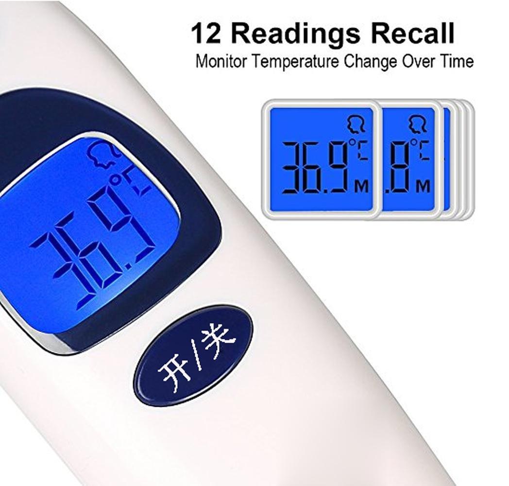 Amazon.com: YXBaby Termómetro digital electrónico Herramienta de medición de temperatura infrarroja Termómetro frontal de bebé Arma Termómetro sin contacto ...