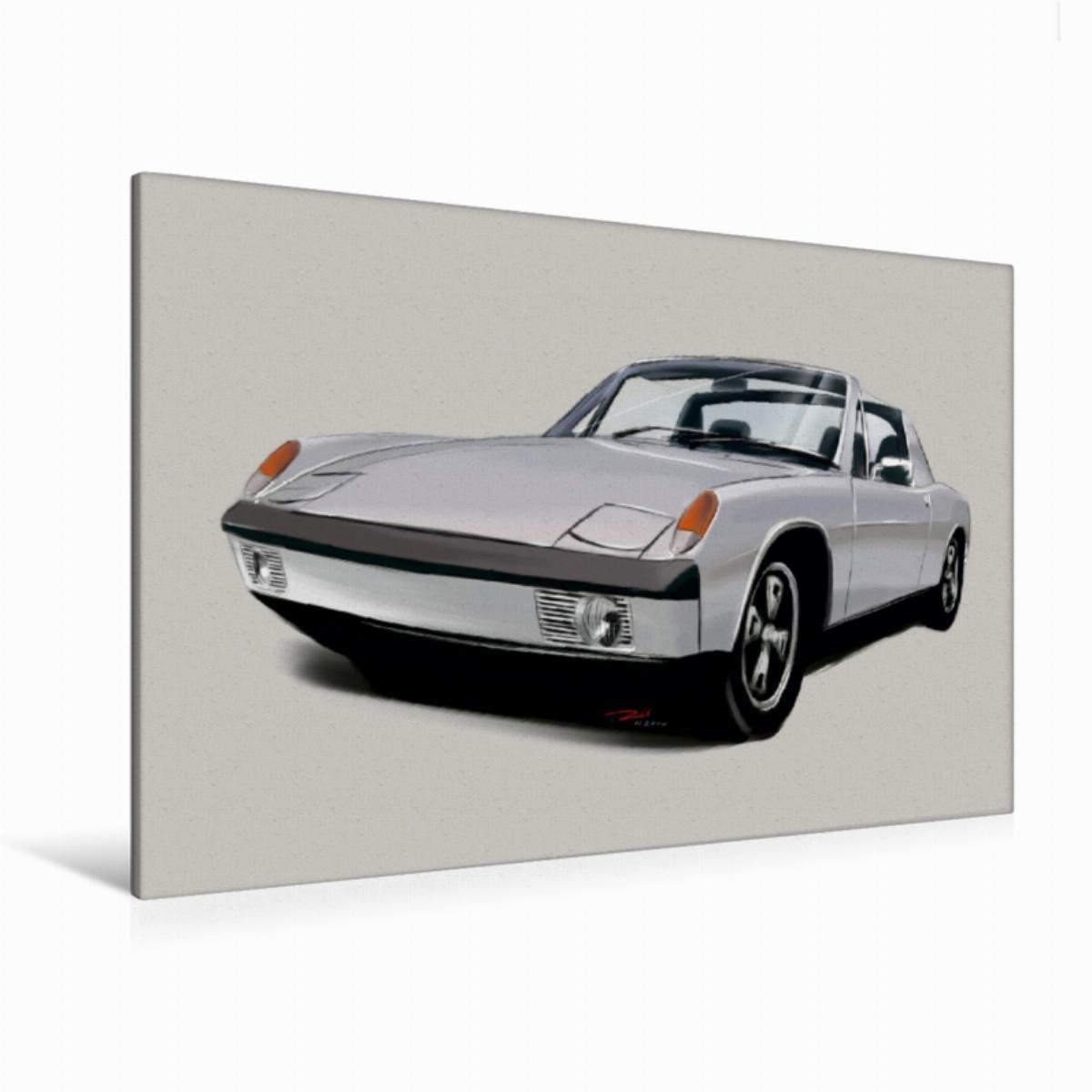 120 x 80 cm Premium Textile Canvas 45 x 30 cm Porsche 914