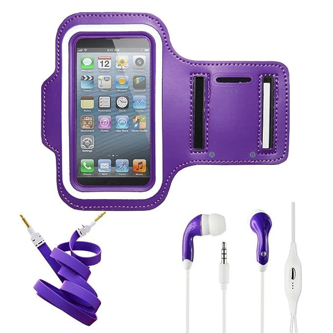 buy popular 8be83 6e23b Amazon.com: Purple Armband Exercise Workout Case with Keyholder fits ...
