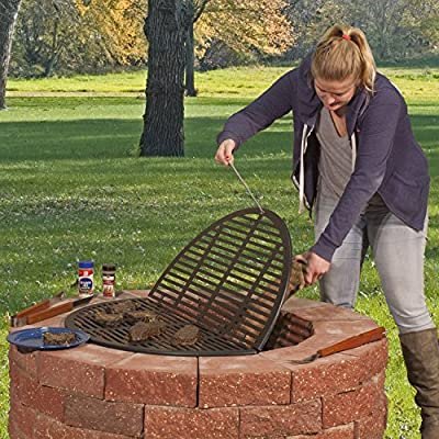 """Pilot Rock - Foldable Cooking Grate 35"""" Diameter - Made in the USA"""