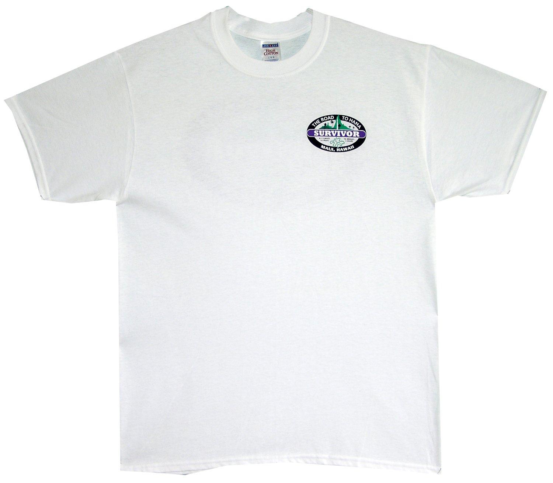 RJC The Road to Hana Survivor Maui Hawaii Pre-Shrunk Cotton T-shirt in White - 3X