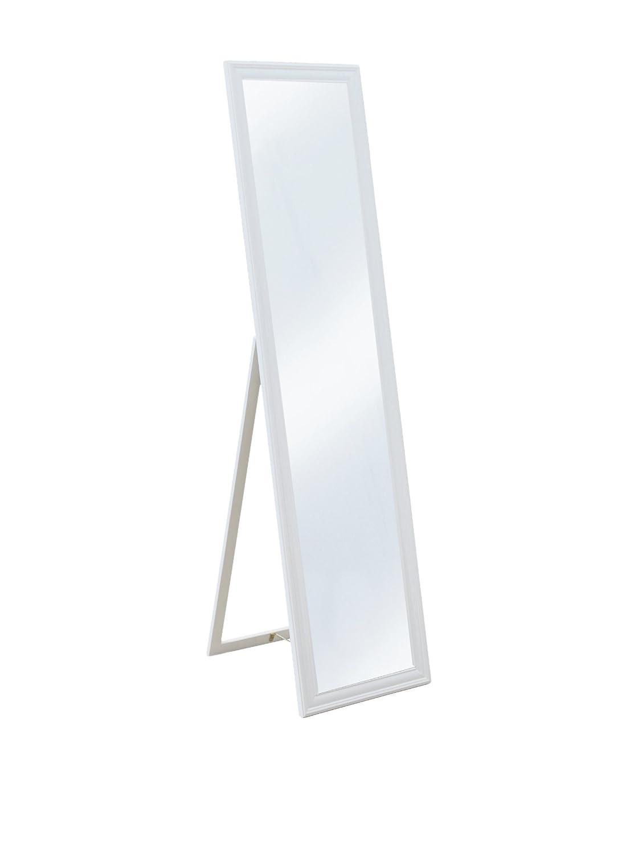 Galileo Casa Mirror Specchio da Terra, Vetro/Legno, Bianco 2404139 2404139_bianco