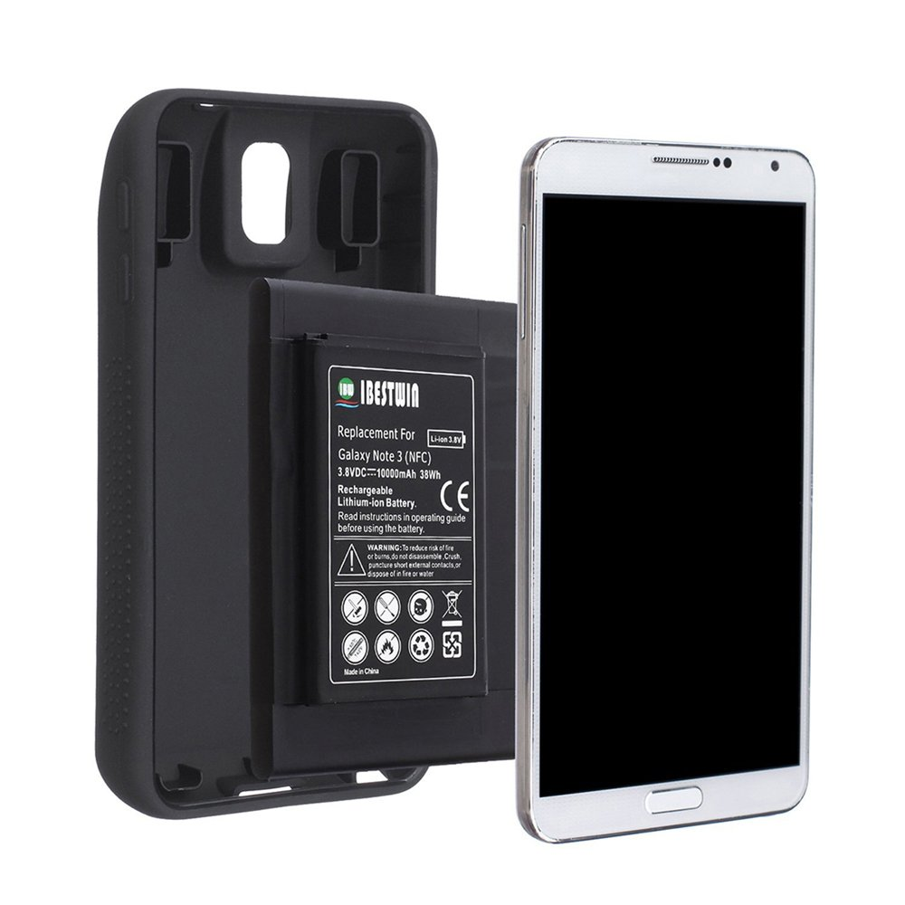 Bateria Celular Ibestwin Note 3 10000mah Extended Lithium Para Samsung Galaxy Note 3 N9000 N9005 Lte At&t N900a N900v Sp