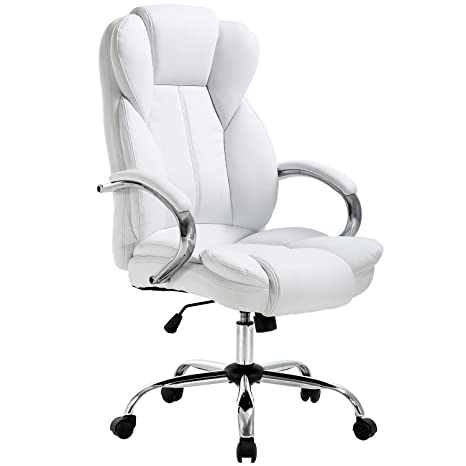 buy popular 8d3cb 16e9e Ergonomic Office Chair Desk Chair PU Leather Computer Chair Executive  Adjustable High Back PU Leather Task Rolling Swivel Chair with Lumbar  Support ...