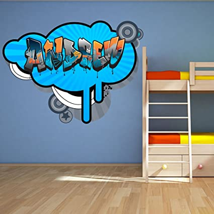 Personalised Childrens Wall Decals (ANY NAME) For Kids/Boys/Girls Bedroom