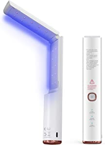 KIISIISO UV Light Sanitizer UVC Lamp Disinfector, Wireless Ultraviolet Germicidal Disinfection Wand, Chargeable Portable Foldable for Home Hotel Office Car, EPA Est. No.97603-CHN-1.