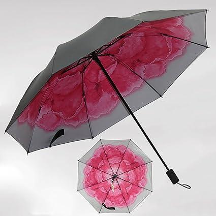 SX-ZZJ Paraguas Plegables Sombrillas para Sol sombrillas UV para Mujer Sombrillas para Sol para
