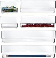 STORi 透明塑料梳妝臺和桌面抽屜收納盒 | 6 件套
