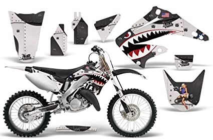 2002-2014 Honda CR 125/250 AMRRACING ATV Graphics Decal Kit-Warhawk-Black