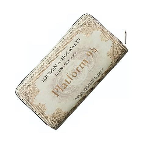 Monedero Billetera de Harry Potter Ticket Plataforma 9 3/4 Beige