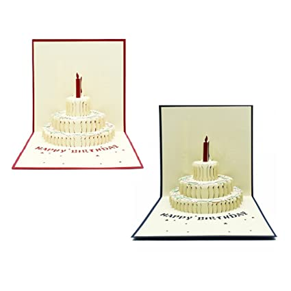 Amazon Com Magic Ants Pack 2 Happy Birthday Cards For Her Mom Dad