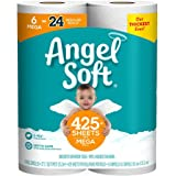 Angel Soft, Toilet Paper, Mega Rolls, 6 Count of 429 2-Ply Sheets Per Roll