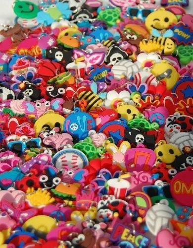 Plastic Charm Bracelets (Charms for Rubber Band Kits and Other Jewelry or Craft)