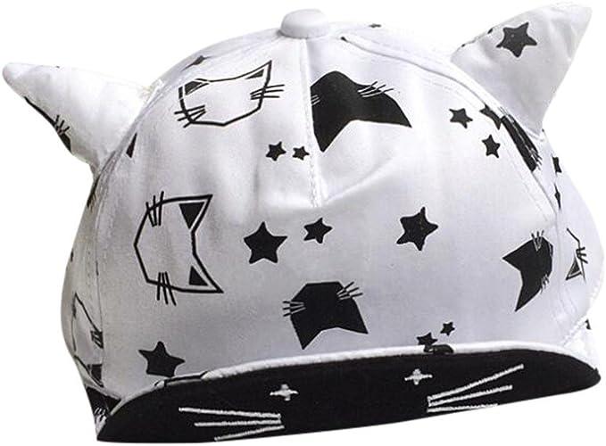 Sombrero para Bebés Niños Niñas Sombrero con Cuernos Gorras ...