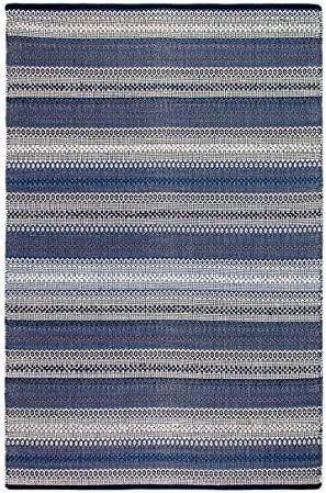 Fab Habitat Reversible Cotton Area Rugs Rugs for Living Room, Bathroom Rug, Kitchen Rug Ethos – Blue 8 x 10