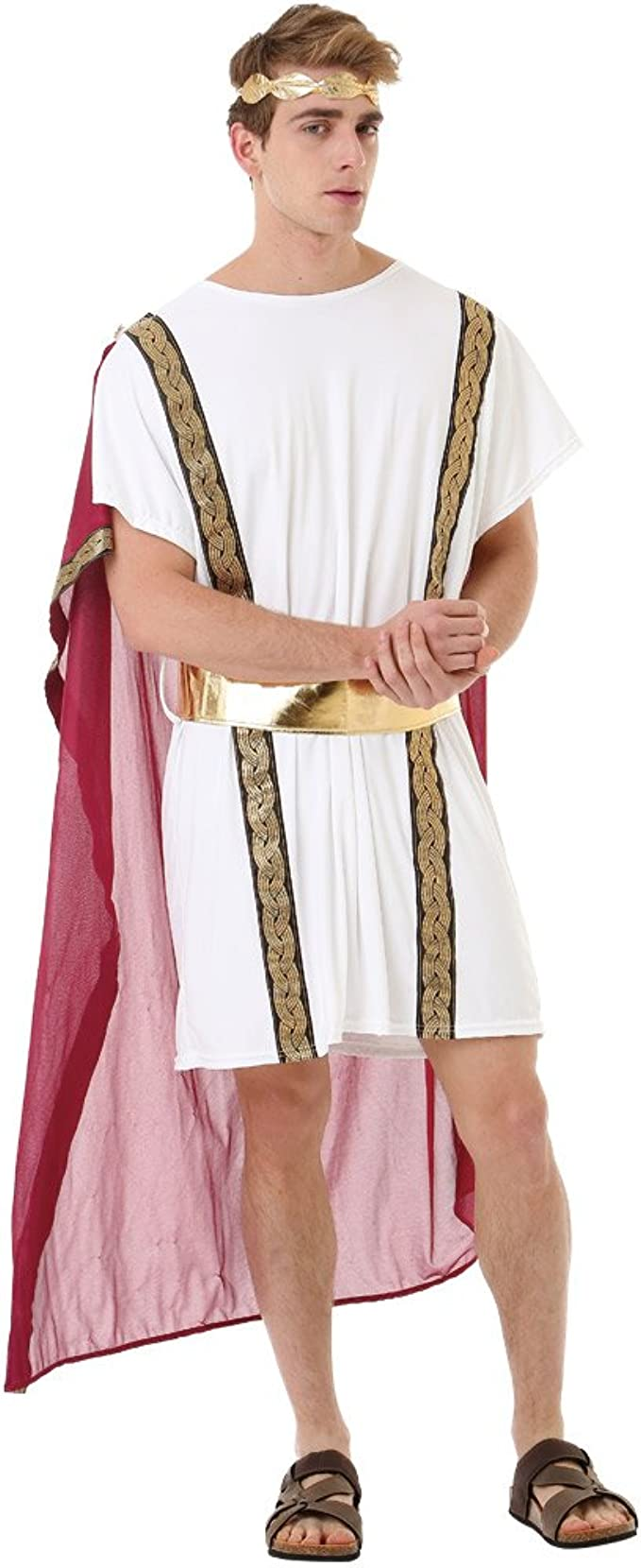Amazon Com Roman Emperor Men S Halloween Costume Julius Caesar Greek Toga King Robe Clothing Julius novachrono 「ユリウス・ノヴァクロノ yuriusu novakurono」 is the 28th magic emperor of the clover kingdom's magic knights. halloween costume julius caesar