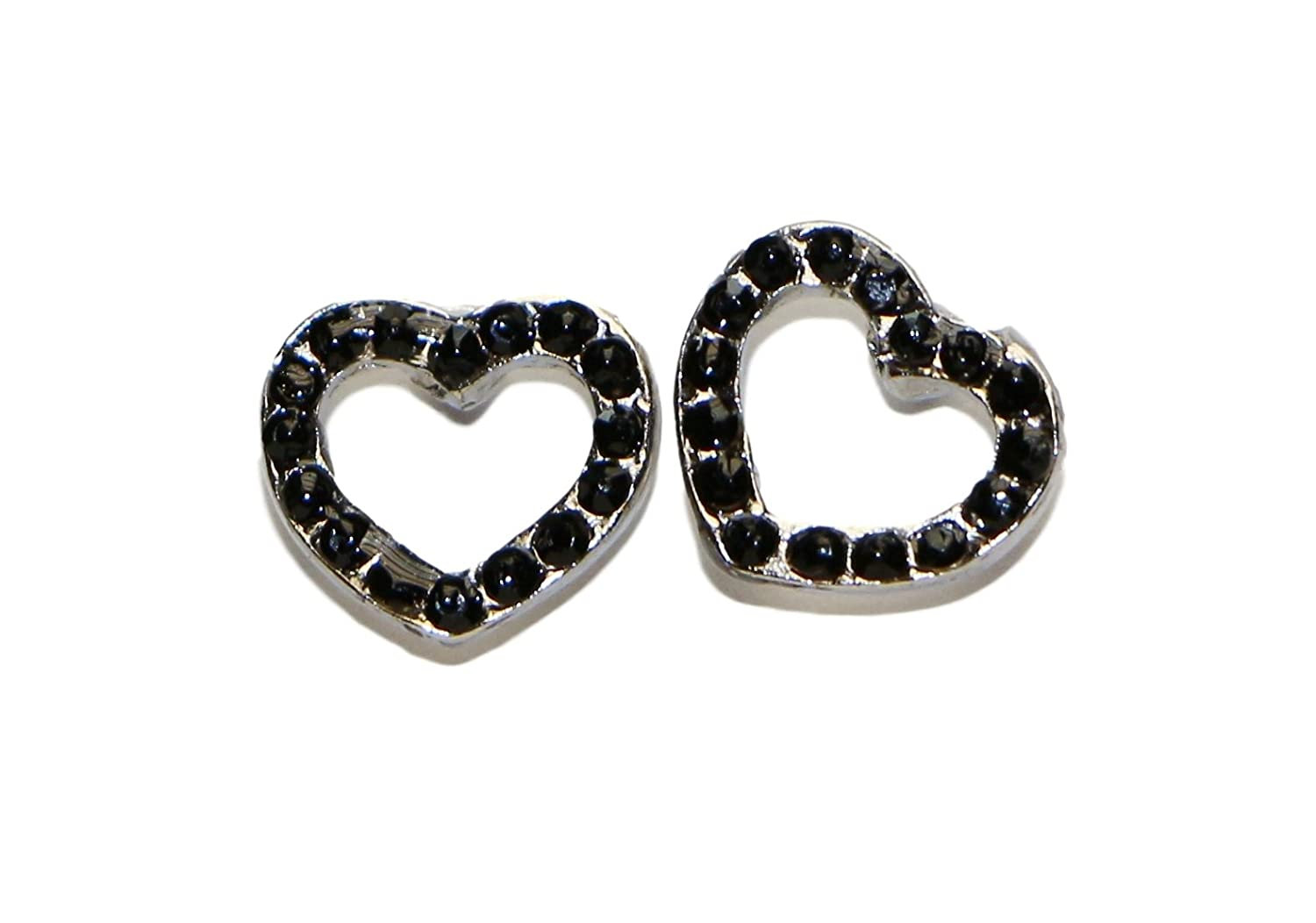 Surgical Stainless Steel Studs Earrings Little Girl Women Heart Shape Cubic Zirconia Hypoallergenic Earrings
