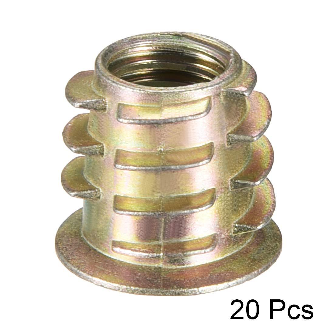 uxcell Wood M10x25mm Hex Socket Screw in Thread Zinc Plated Insert Nut 11Pcs a15062900ux0142