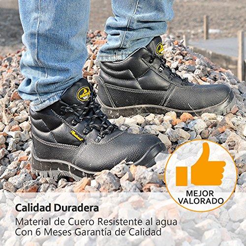 Trabajo Hombre 8010 De Zapatos Seguridad Para Acero Impermeable Color Negro Botas Puntera Con Safetoe wxZUqaXx