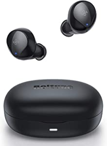 Wireless Earbuds | Boltune Bluetooth 5.0 Headphones | Graphene Driver with Deep Bass | CVC 8.0 Built in Noise Cancellation Mic | Touch Control | IPX8 Waterproof | Single/Twin Mode | USB-C Quick Charge