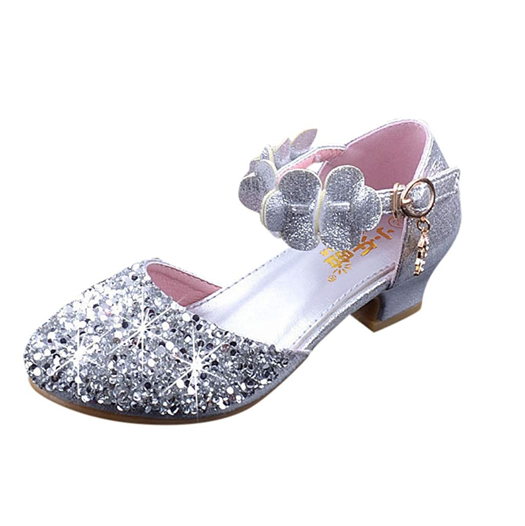 Scarpe da Bambina Bowknot Strass Perla Principessa Sandali Neonata Estive Scarpe da Ballo Shoes Bambino Danza Latina Classica Mary Jane Basse,Honestyi